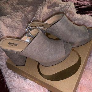 High heeled loafers